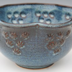 Stamped Flower Serving Bowl by Christine Stangel 2013