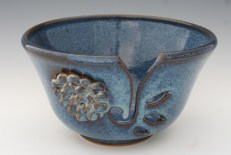 Flowered Yarn Bowl by Christine Stangel 2013