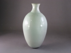 Celadon Gas Fired Vase by Linda Goncalves