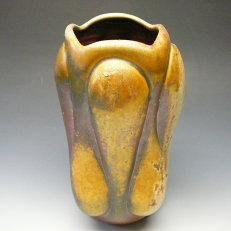 Vase, 2013 by Lynn Anne Verbeck Anagama fired to cone 12 Avery slip sprayed, natural ash glaze